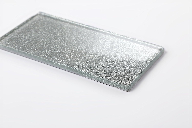 MT0113 Die St/ärke betr/ägt 6mm Glas Wand Fliese Silber mit Glitzer Fliese ist 7.5cm x 15cm
