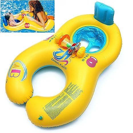 anillo de natación del bebé de la madre, natación flotador del niño con la silla suave ...