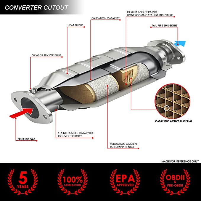 Catalytic Converter for 1991 Honda Civic FWD 1.6L L4 GAS SOHC Si