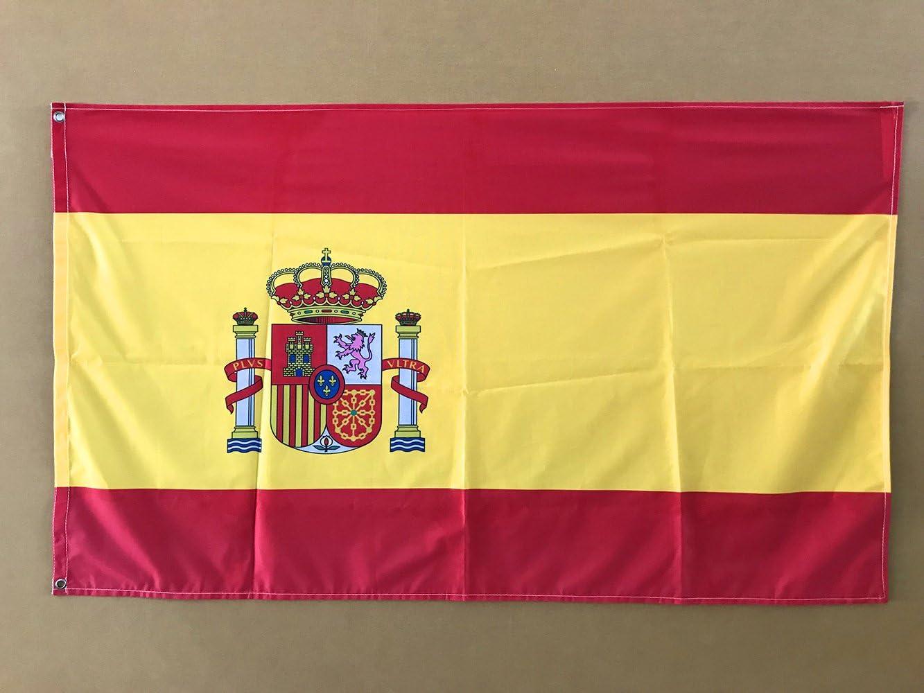 Oedim Bandera de España 85x150cm | Reforzada y con Pespuntes | Bandera de España con 2 Ojales Metálicos y Resistente al Agua