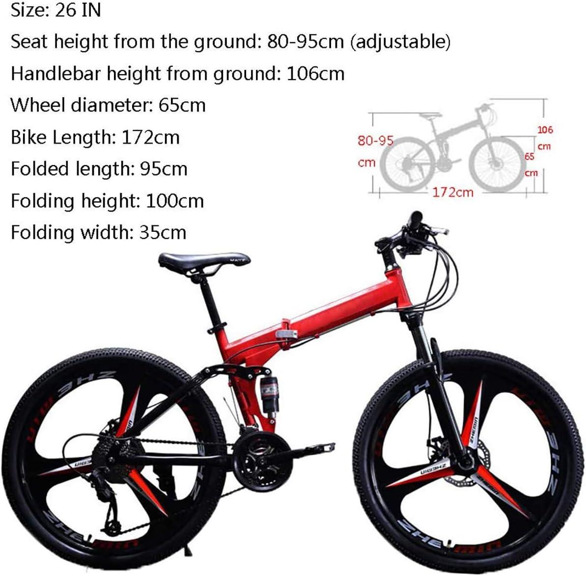 STRTG Bikes Bicicleta Plegable, Adultos Plegable Montaña Bicicleta ...