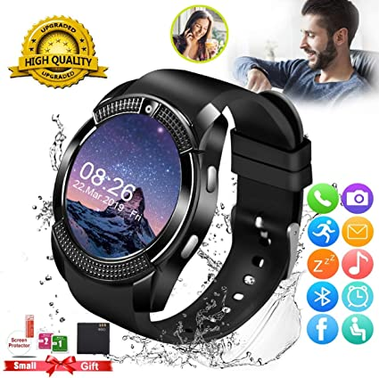 Smart Watch, Smartwatch for Android Phones, Smart Watches Touchscreen with Camera Bluetooth Watch Phone with SIM Card Slot Watch Cell Phone Compatible ...