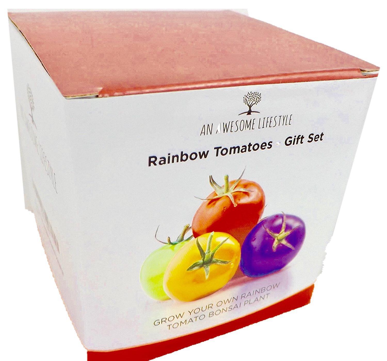 ZÜ CHTEN SIE IHRE EIGENE BONSAI TOMATENPFLANZEAlles, was Sie benö tigen um Ihre mehrfarbige Bonsai Tomatenpfanze zu zü chten. Komplette Schritt fü r Schritt Anleitung enthalten. Das ist das perfekte Geschenk! Bonsaisamen Bonsaibaum Z&u