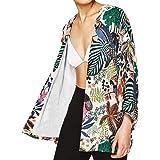 Culater Mujeres Tops Cardigan Chal de Gasa Kimono Impresos Encubrir Blusa