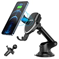 CHOETECH Wireless Car Charger, 10W Max Qi Fast Car Charger Phone Holder Compatible with iPhone 12/12 Pro/12 Pro Max/11…