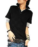 (バレッタ)Valletta 4color ジャガード 半袖 ポロシャツ 無地 5分袖 Tシャツ カットソー アンサンブル SET