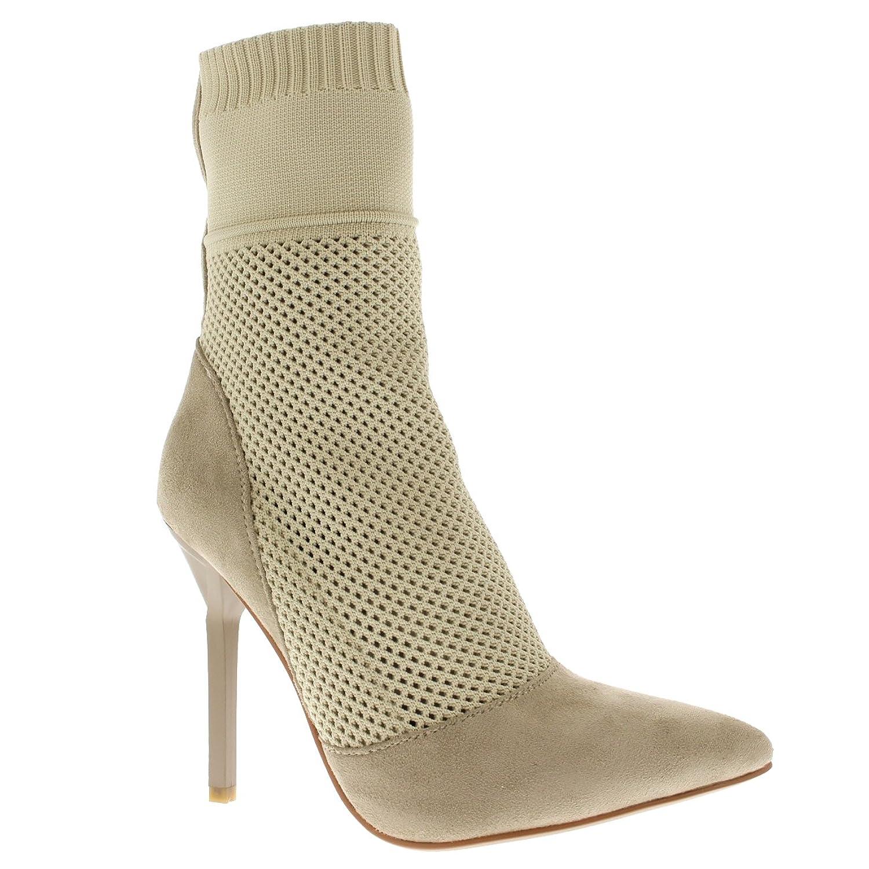 Damen Socke Passen Stilett Spitze Knöchel Hoch Party Mode Hoch Fersen:  Amazon.de: Schuhe & Handtaschen