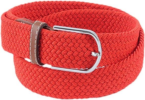 SUNYIK Mens Casual Braided Elastic Stretch Belt