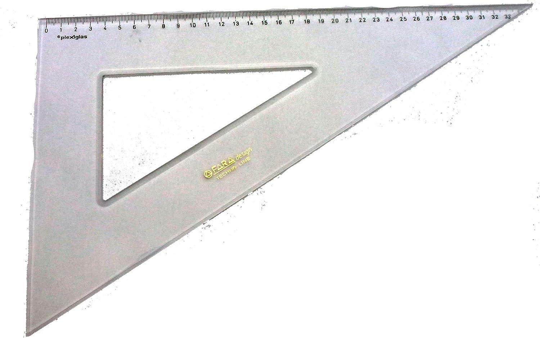 Fara Squadra Plexiglas Crystal Cm 37 60 Gradi