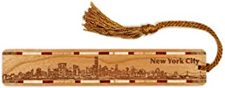 product image for New York City Skyline Engraved Wooden Bookmark with Tassel - Also Available Personalized