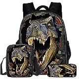 Mochila para Niños, Mochilas Dinosaurio con Bolsa de Hombro para Almuerzo Estuche para Lápices Conjunto de Mochilas…