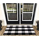 Levinis Buffalo Check Rug - Cotton Washable Porch Rugs Door Mat Hand-Woven Checkered Plaid Rug for Doorway/Kitchen…