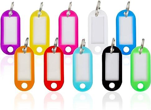 96 Schlüsselanhänger bunt beschriftbar Schlüssel Schilder Etiketten Anhänger NEU