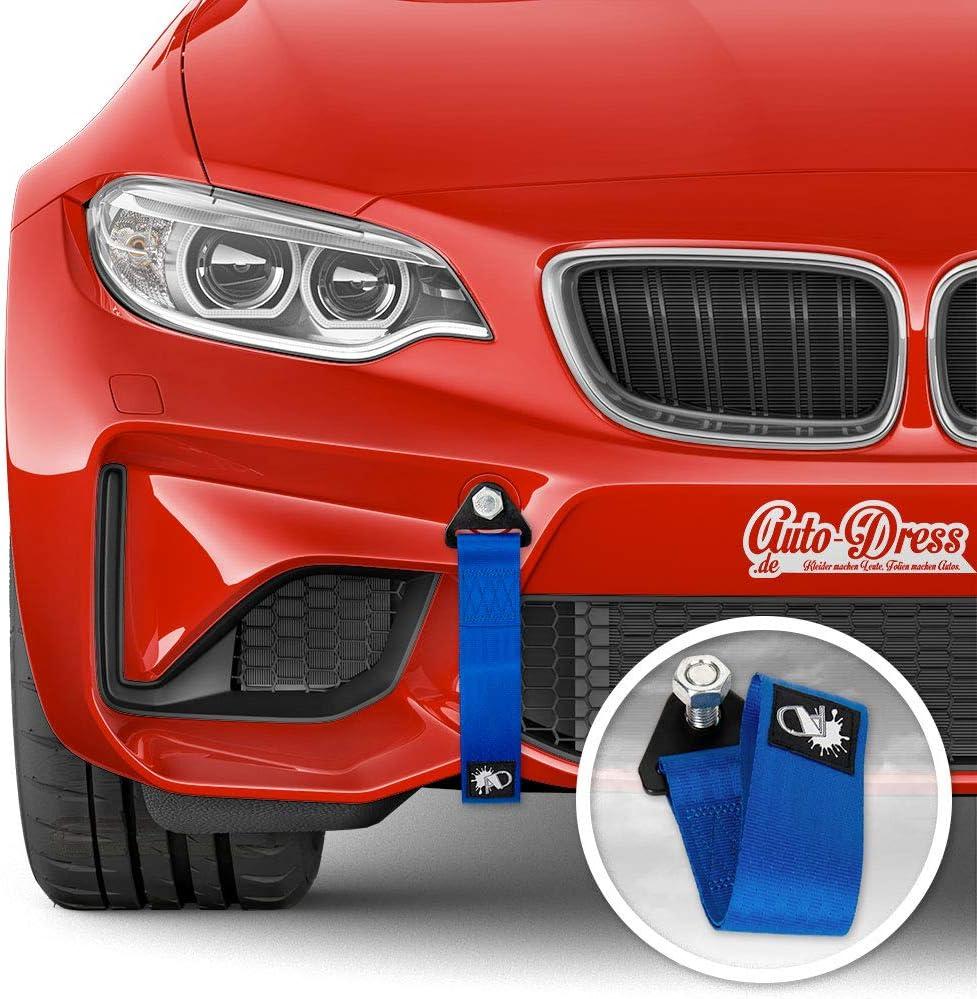 Auto Dress Rallye Drift Schlaufe Rennsport Motorsport Abschlepptau Tau Racing Hook Tow Strap Abschleppschlaufe Schlaufe Blau Auto