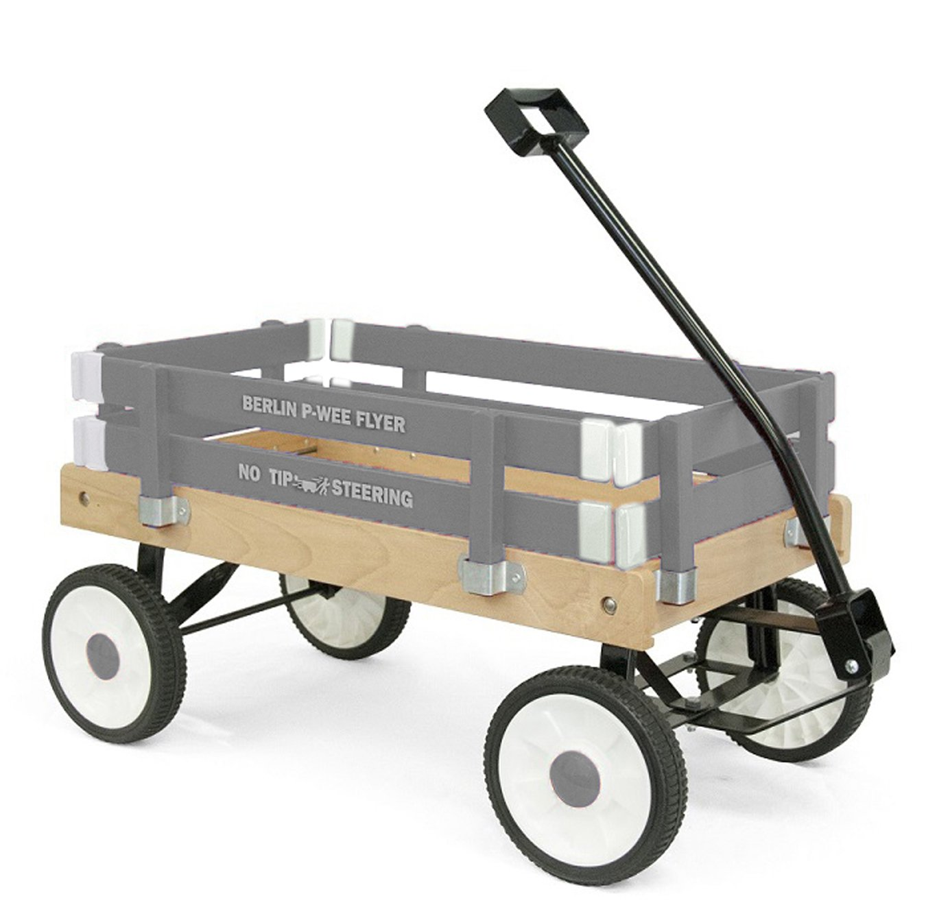 Berlin F257 Amish-Made Pee-Wee Flyer Ride-On Wagon, Gray