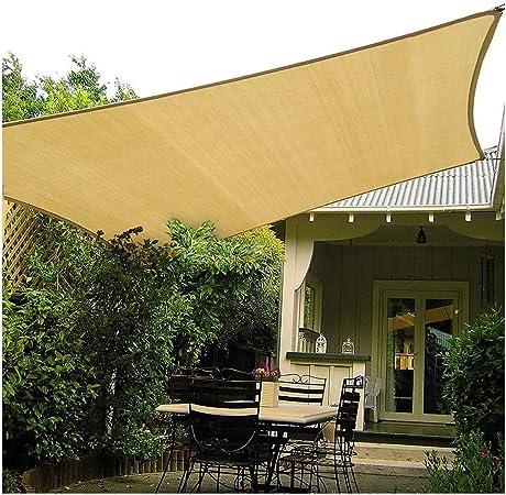 Toldo Vela de Sombra XUEP Toldo Vela Rectangular Vela De Sombra Transpirable Protección Solar Jardín Jardín Fiesta Protección Solar Toldo Arena (Size : 13.1x16.4ft): Amazon.es: Hogar