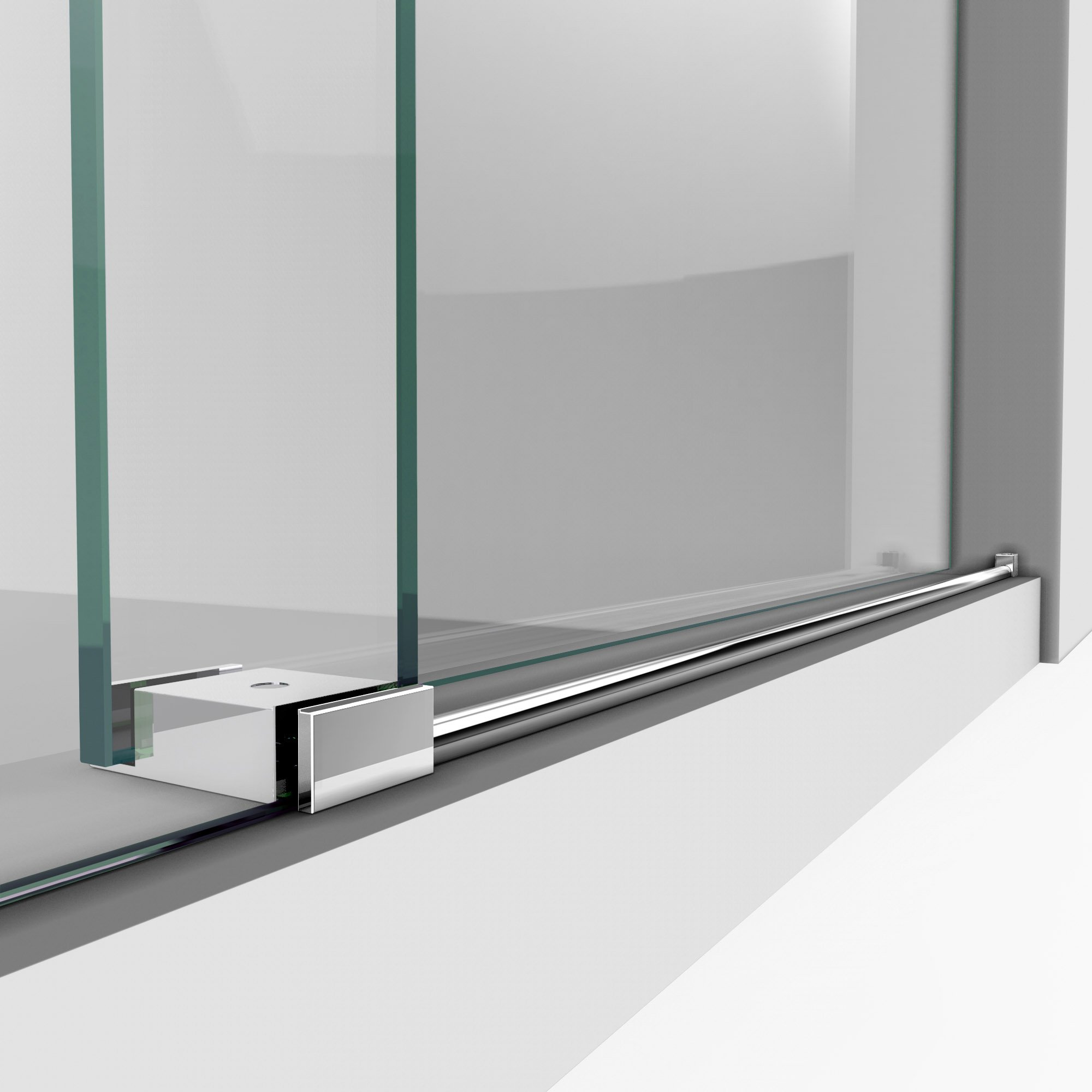 DreamLine Enigma-X 55-59 in. W x 62 in. H Fully Frameless Sliding Tub Door in Polished Stainless Steel, SHDR-61606210-08 by DreamLine (Image #9)