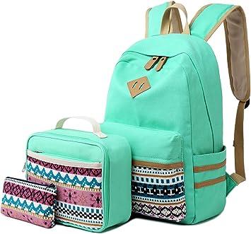 Amazon Com Camtop School Backpacks Girls Teens Bookbag Set