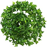 5 Pack Artificial Ivy Garland Fake Foliage Green Leave Hanging Vine Plant for Wedding Party Garden Wall Decoration 40Ft