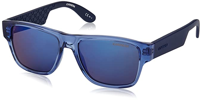 Carrera Junior Unisex-Kinder Sonnenbrille Carrerino 15 XT Knq, Blau (Trazure Bluette/Blue Sky Grey Speckled), 48
