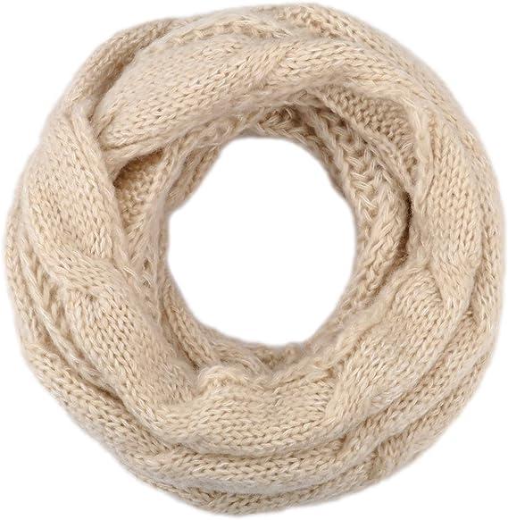 Knitted Scarf Infinity Loop Chunky Blue Marl Unisex Men Ladies Winter Cowl Snood