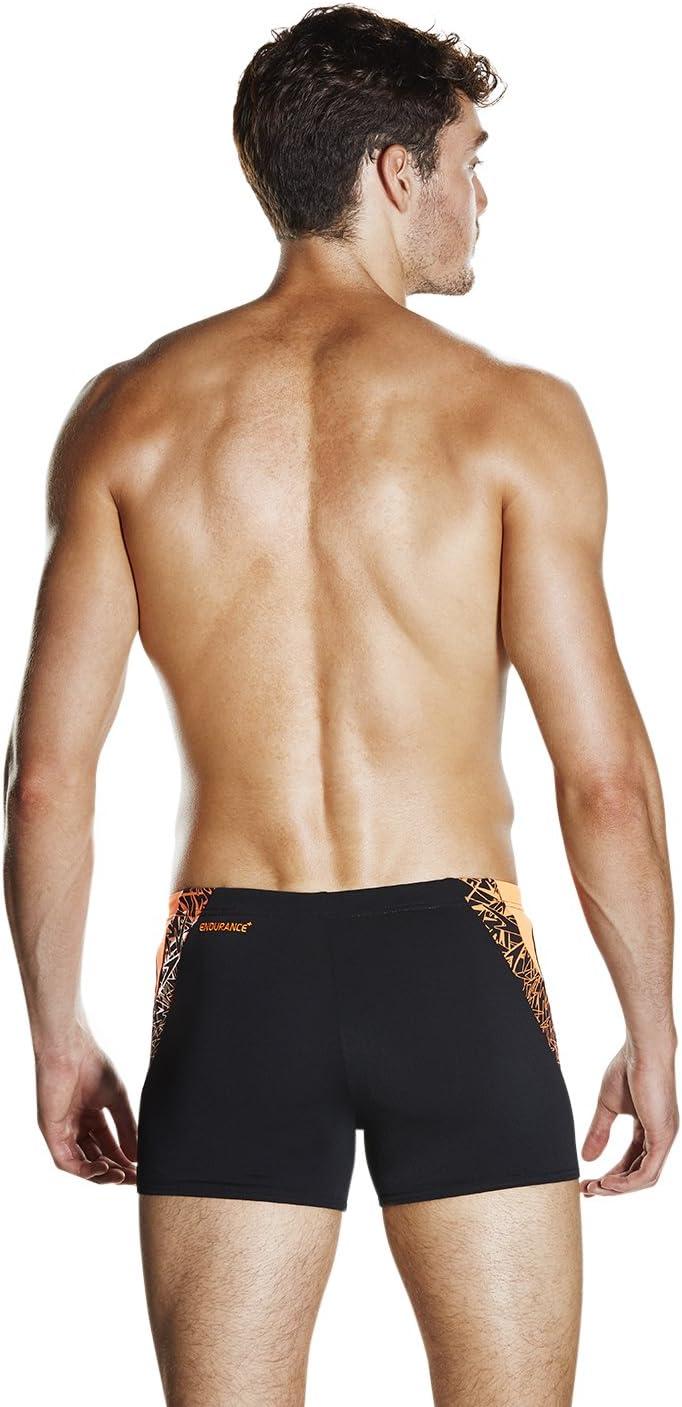 Speedo Men's Boom Splice Aquashorts Aquashorts Black/Fluo Orange