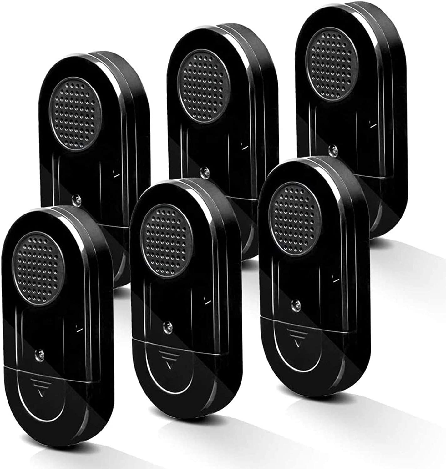 SanJie Window Alarm, Glass Break Alarm Vibration Detector with 120 dB for Home Security 6 Pack