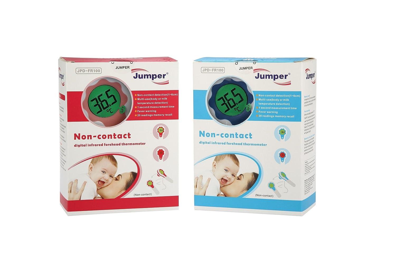 [Jumper® Médica] JPD-FR100 termómetro digital y infrarrojo sin contacto, certificados FDA, ISO, RoHS, medir la temperatura corporal, fiebre y T° de leche ...