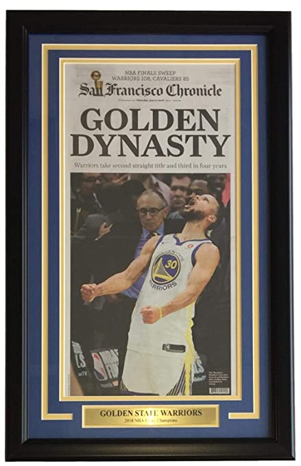 3edf1329728 Golden State Warriors Framed Jun 6 2018 San Francisco Chronicle Newspaper  Cover
