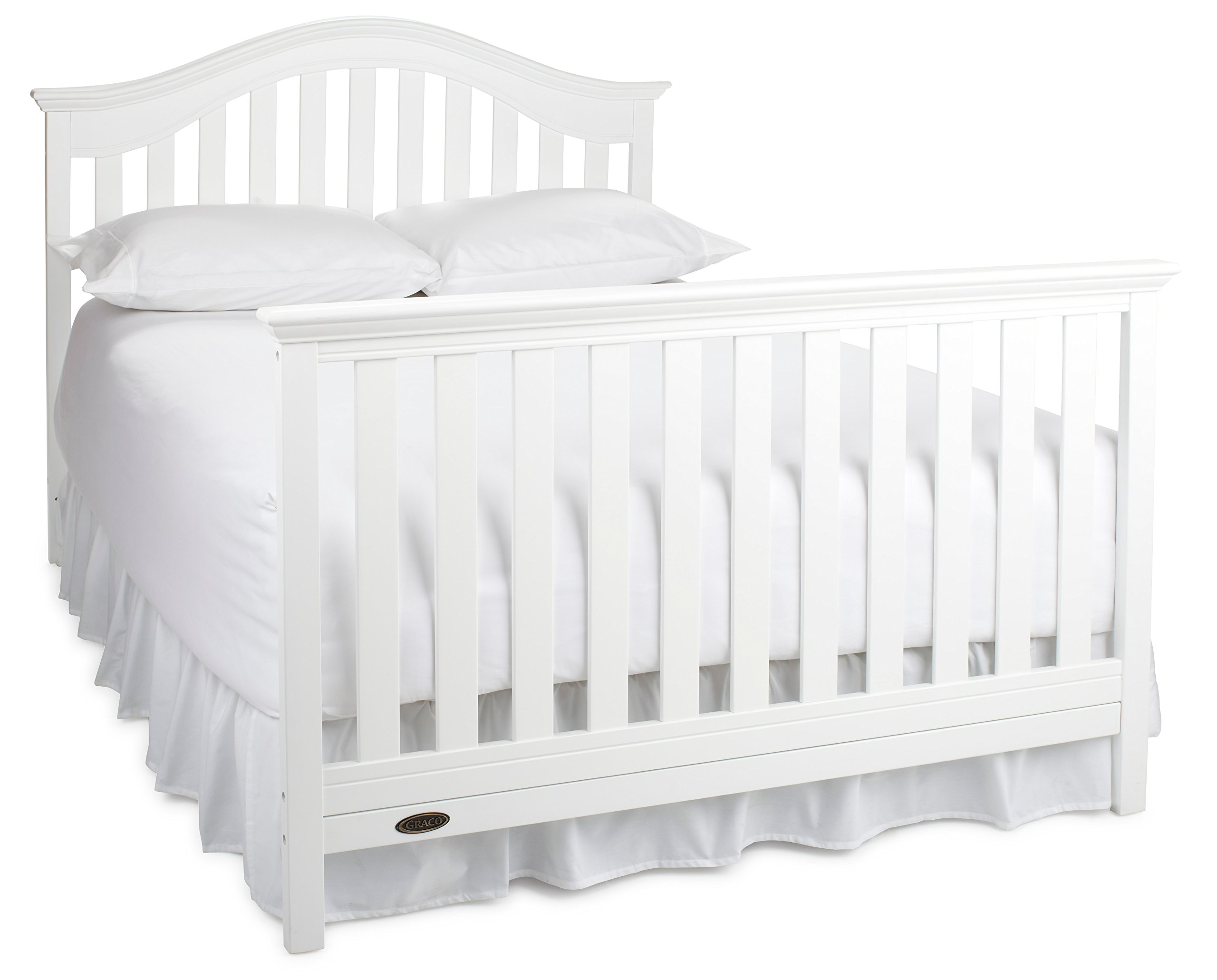 Graco Bryson 4-in-1 Convertible Crib, White, Easily ...