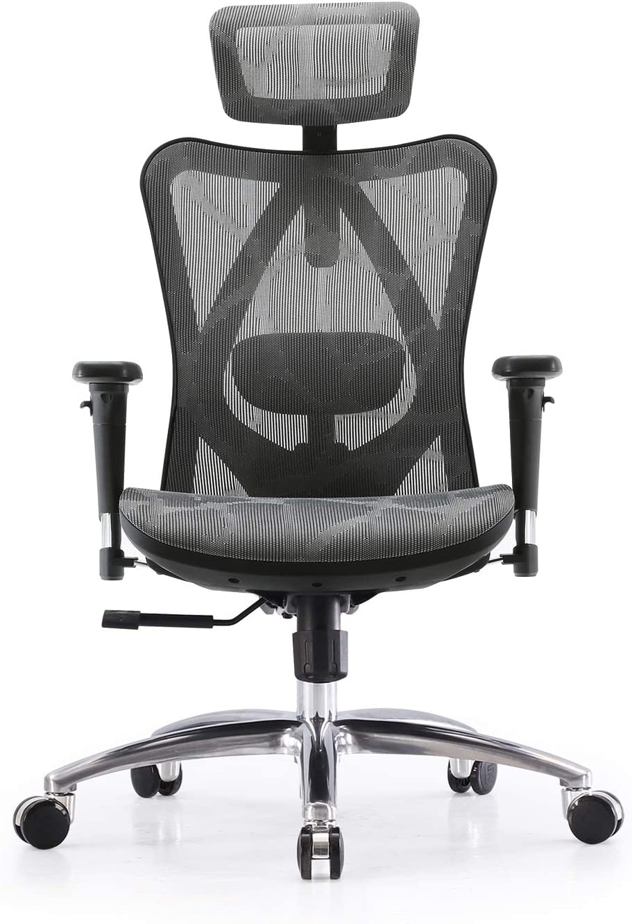 SIHOO Ergonomic Home Office Chair Adjustable Lumbar Support 3D Armrests Computer Desk Chair Skin-Friendly Mesh Executive High Back Chair(Grey)