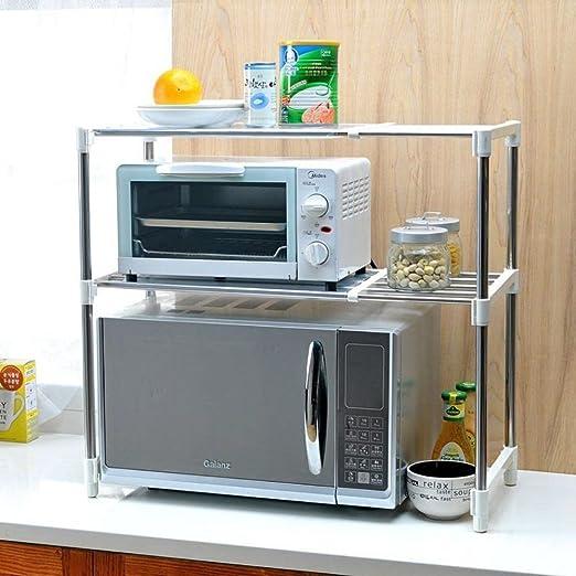 Soporte ajustable para horno de microondas rack estante lateral de ...