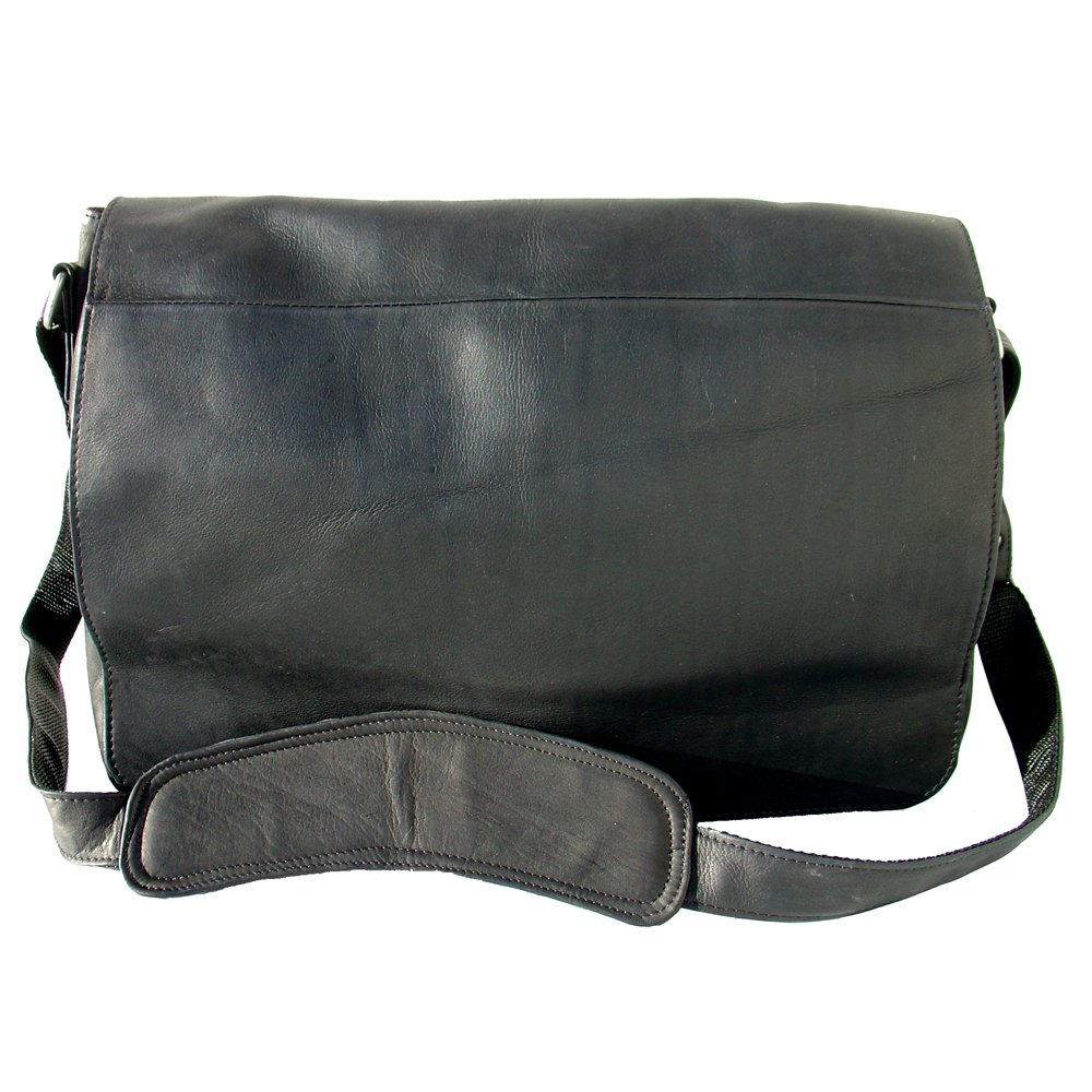 Piel Custom Personalized Leather Traditional Messenger Bag in Saddle