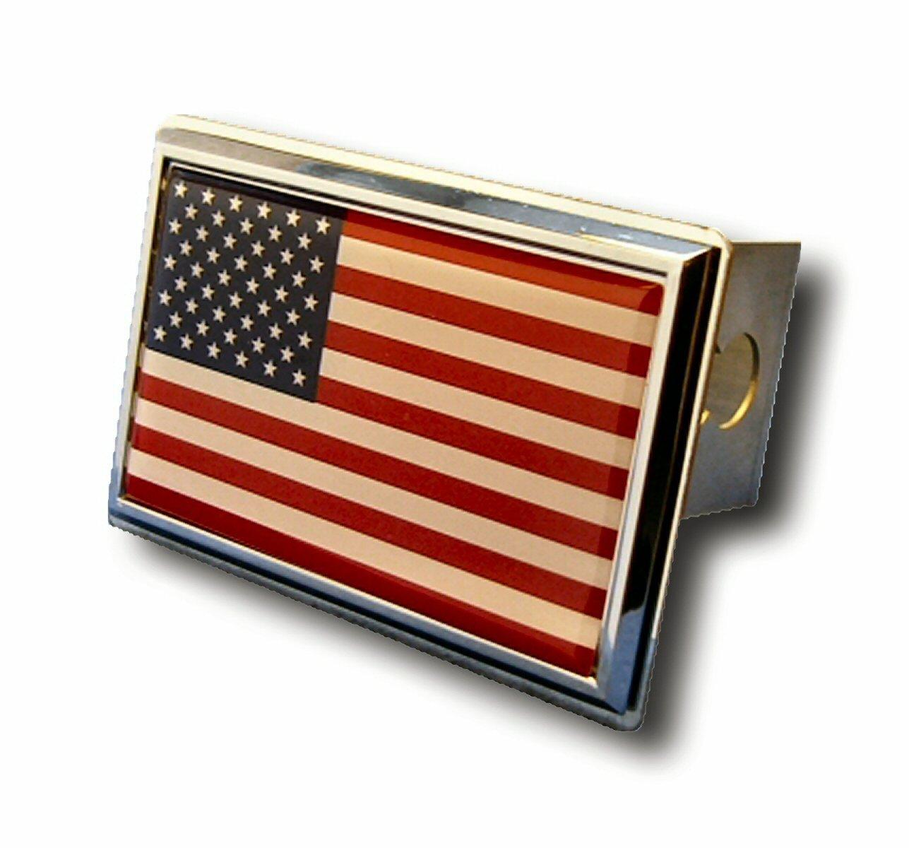 Patriotic US Marine Corps Chrome Trailer Hitch Plug