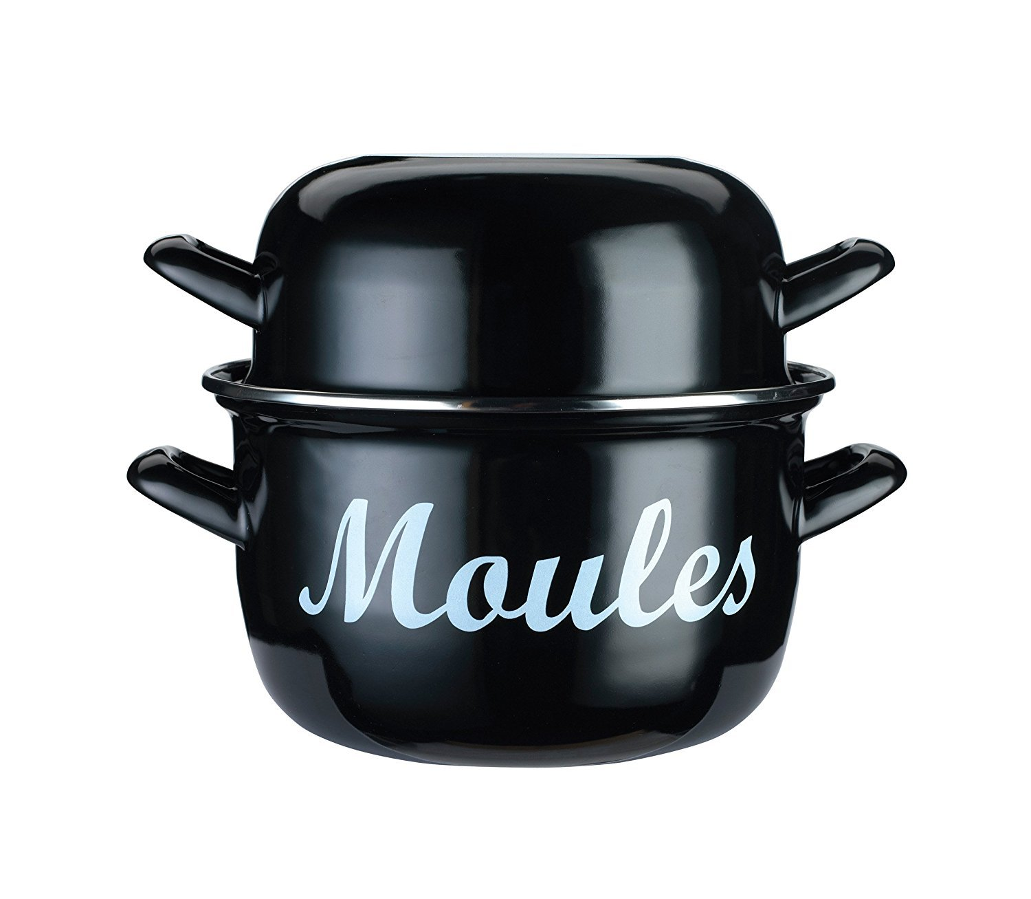 KitchenCraft World of Flavours Traditional Individual Enamel Mussel Pot, 12 cm (4.5