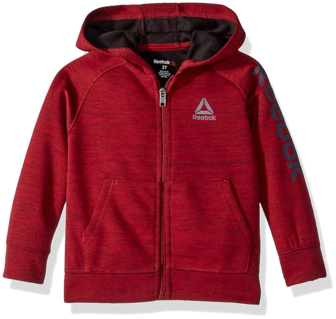 Reebok Boys Sporty Double Knit Zip-up Hooded Jacket Q/_2424