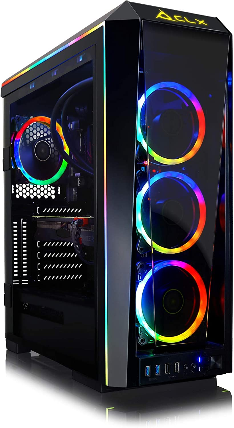 CLX Set - Extreme Gaming PC, Liquid-Cooled Intel Core i9 9900K 3.6GHz (Max Turbo 5.0GHz) 8-Core, Z390 ATX, 16GB DDR4 3200MHz, GeForce RTX 2080 Ti 11GB, 960GB SSD + 3TB HDD, WiFi, Black/RGB