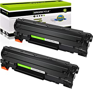 greencycle 2 PK Compatible CB435A 35A Black Laser Toner Cartridges Replacement for HP Laserjet P1005 P1006 P1009 Printer