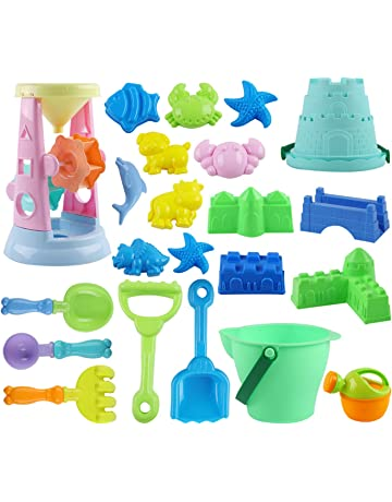 bdc10095011 ToyerBee Sand Toys- 23pcs Beach Toys Set with Bucket