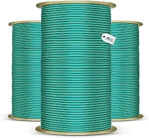 DQPP 50m cuerda el/ástica goma 4mm amarillo atar