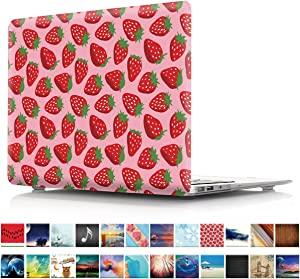 """MacBook Air 13 inch Case, PapyHall Plastic Hard Case for Apple MacBook Air 13 inch Model: A1369 and A1466 (Not Compatible 2018 MacBook Air 13"""" Touch ID A1932) Strawberry"""