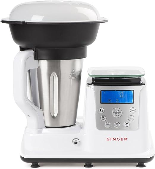 Singer Petit Chef Robot de Cocina multifunción - Cocinar con vapor ...