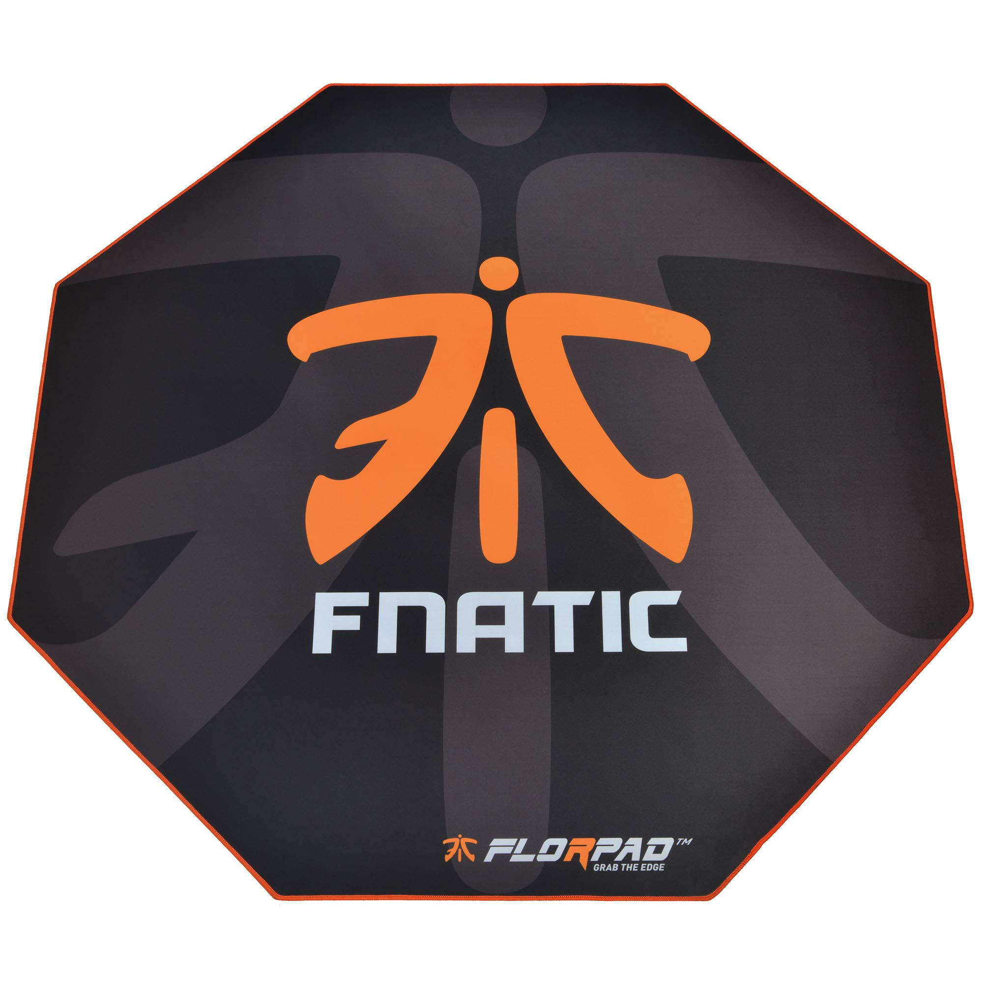 Florpad Fnatic Gaming Office Chair Mat | Protects All Floors | Liquid Resistant | Noise Cancelling | Smooth Surface 45'' x 45'' by FLORPAD GRAB THE EDGE