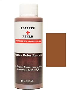 Leather Rehab Leather Color Restorer - Repair & Restore Faded, Worn and Scratched Leather & Vinyl Easily with No Kit - Furniture, Couch, Car Seat, Shoes, Jacket and Boots - 4 oz. Brown Maple
