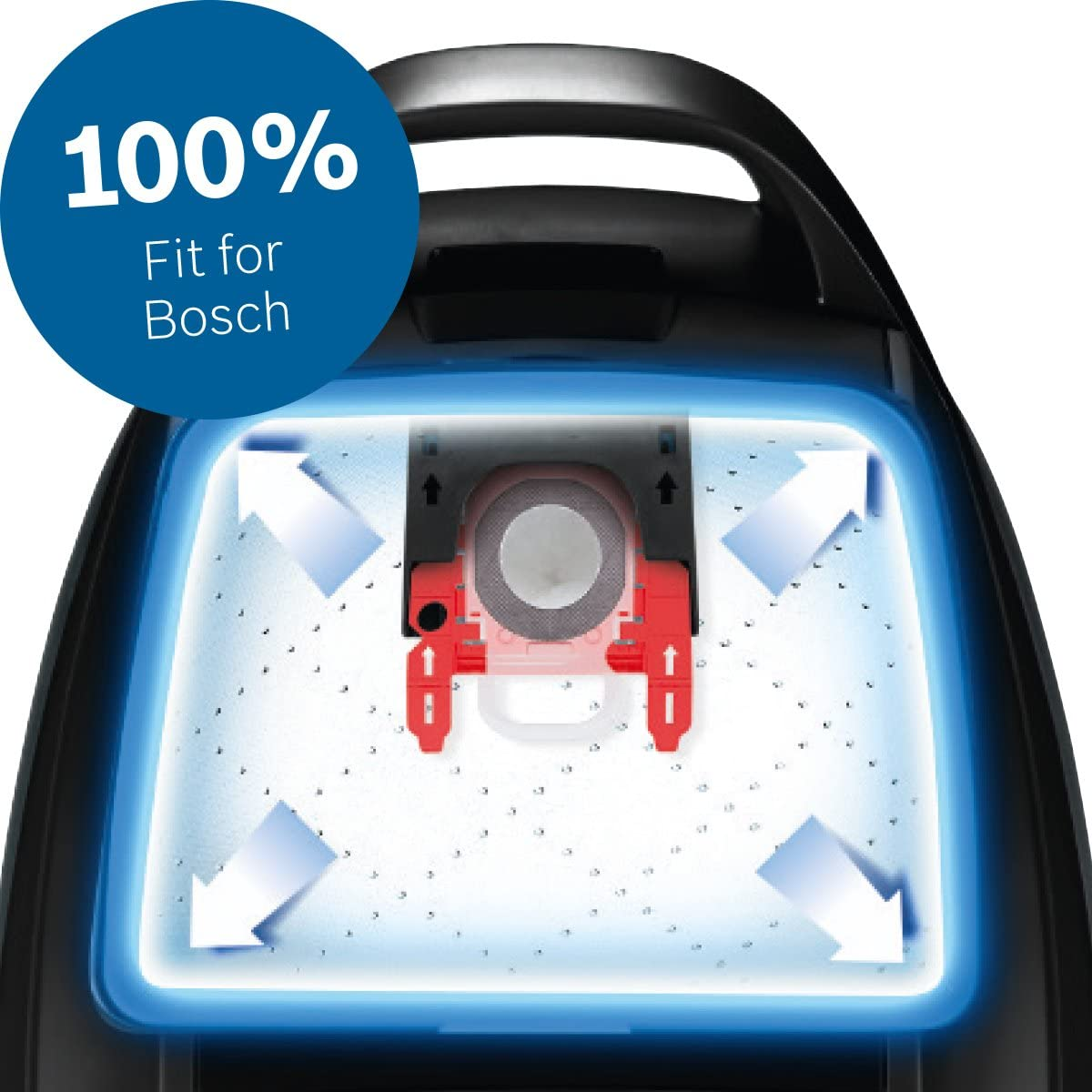 Bosch BBZ16GALL PowerProtect Bolsas de aspirador con cierre higiénico, adecuado para todas las series (excepto BSG8 y BSN1), Pack de 16: Amazon.es: Hogar
