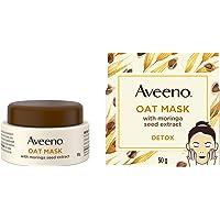 Aveeno Detox Face Mask With Oat, Moringa Seed Extract, Vitamin E, Bentonite and Kaolin Clay and Squalane, Moringa, 50…