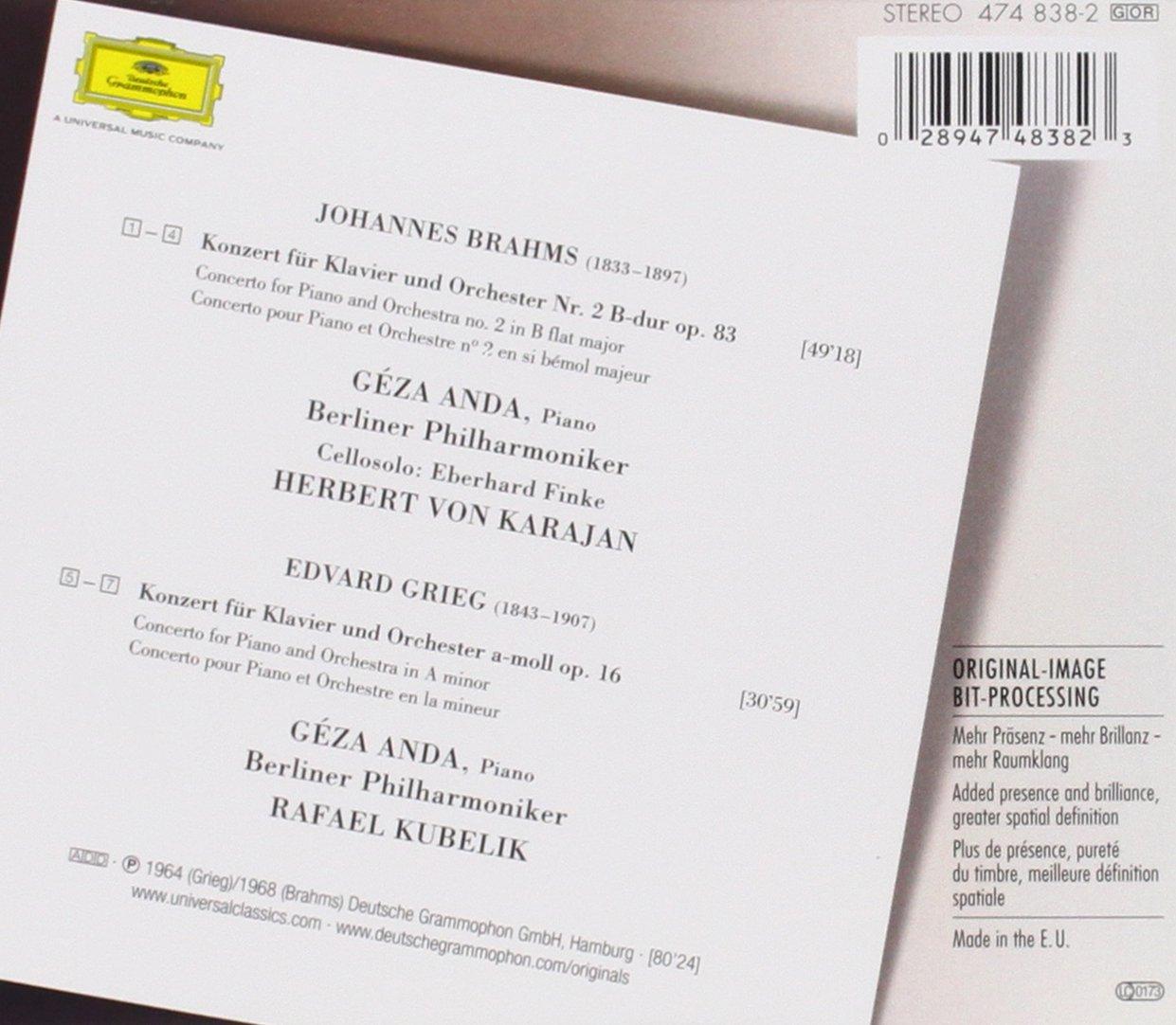 Amazon.com: Brahms: Piano Concerto No. 2 / Grieg: Piano ...