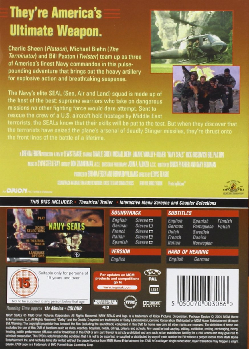 Navy Seals  Reino Unido   DVD   Amazon.es  Charlie Sheen cc2efc1fb18e