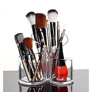 PuTwo Oraganizador Maquillaje Acrílica Grande Capacidad Estuche Caja Maquillaje Redondo