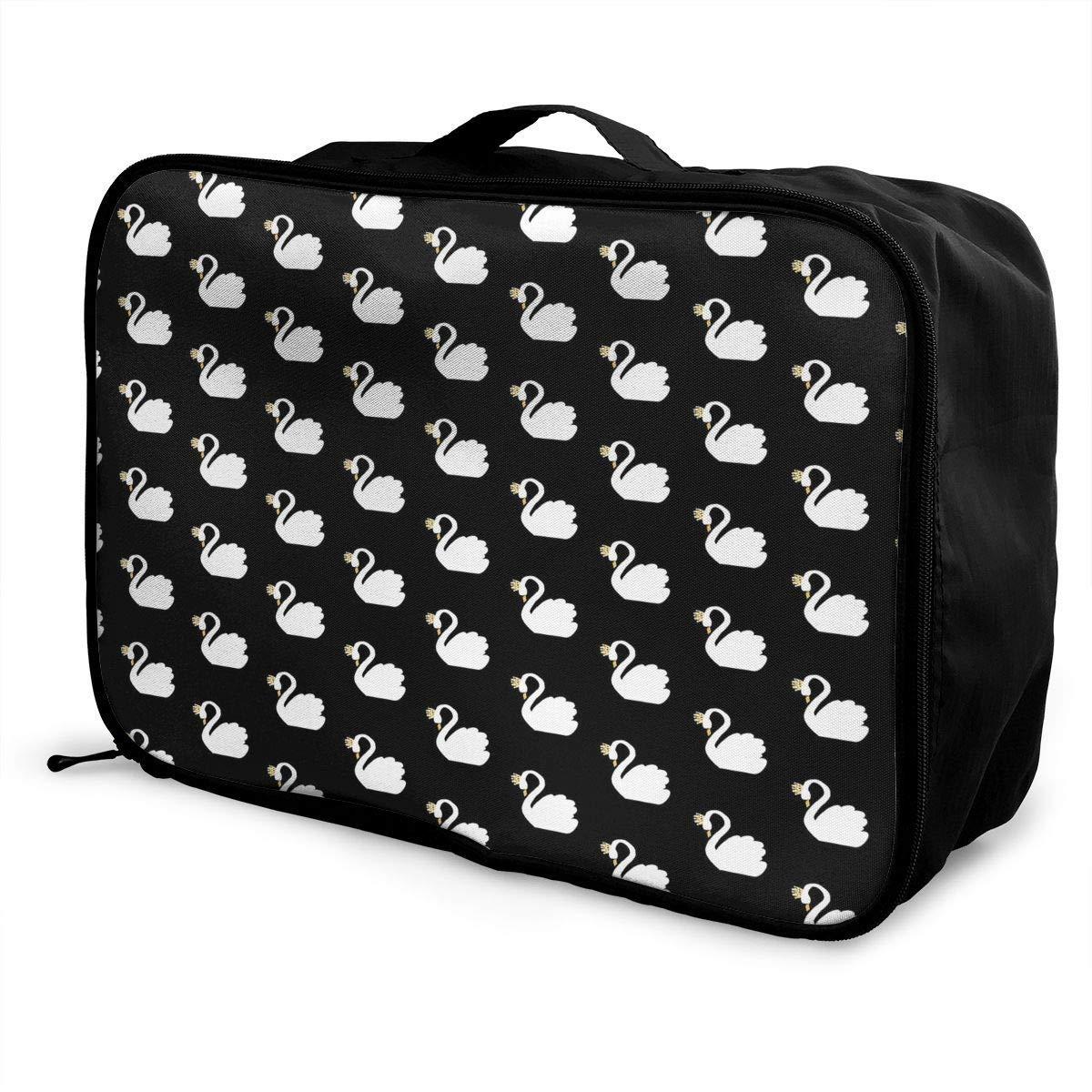 Travel Duffel Bag Waterproof Fashion Lightweight Large Capacity Portable Duffel Bag for Men /& Women JTRVW Luggage Bags for Travel White Swan Black